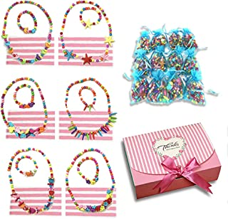 RAINBOW TOYFROG My First Jewelry Pretend Play Princess Set for Girls Party Favor Easter 12 Sets of Necklace and Bracelet for Easter Egg Filler Stuffers Gift Box Packed