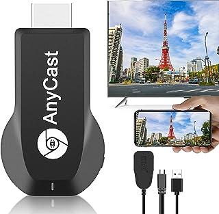 【2021最新最強Anycast 】Anycast 4K HDMIミラーキャスト ドングルレシーバー PCの画面をテレビやモニターにミラーリング モード切り替え不要 ミラーリング簡単接続可 HDMIワイヤレスミラーリング4K解像度高画質 無線H...