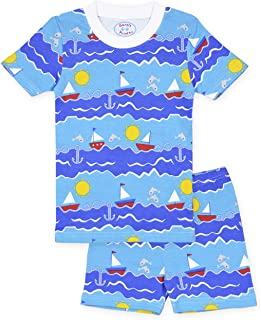 Sara's Prints Boys' Soft All Cotton Fitted Short Pajama Set