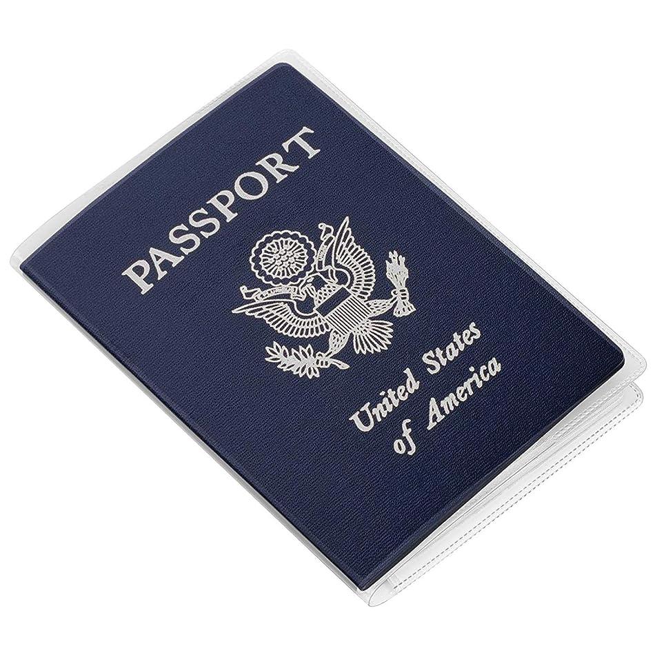 マイナーおばさん画家Kesote 透明パスポートカバー カードポケット付き 防水 旅行用品 トラベルグッズ19x13.5㎝ 5枚入り