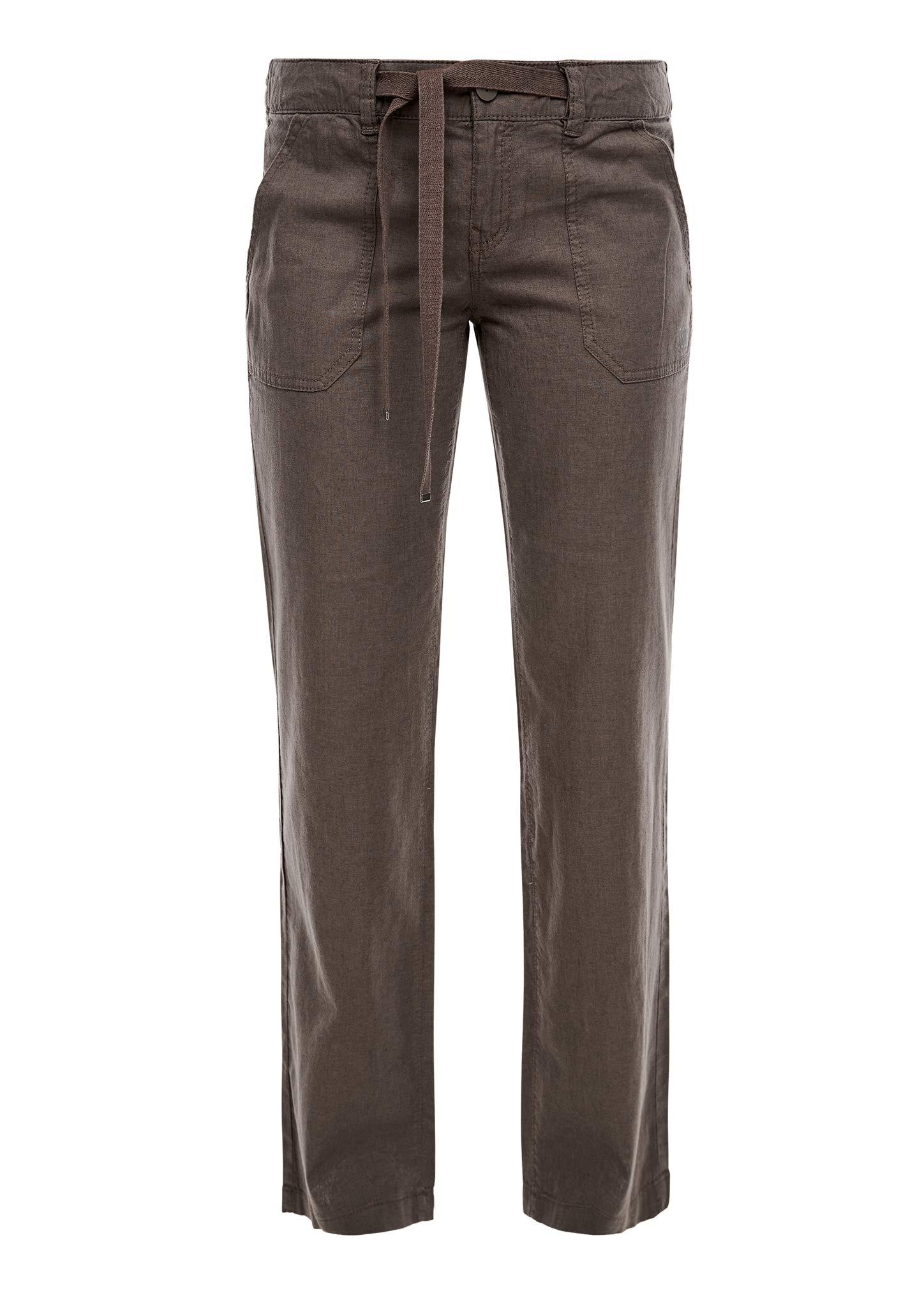 Wide Leg, pantalon en lin - Marron - W38