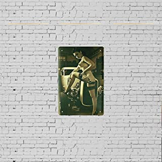 MANGAN with Pin Up Girl Straps Hot Rod 50 ?S Car Funny Wall Tin Sign Metal Art Board Bar Cafe Club Decoration Poster
