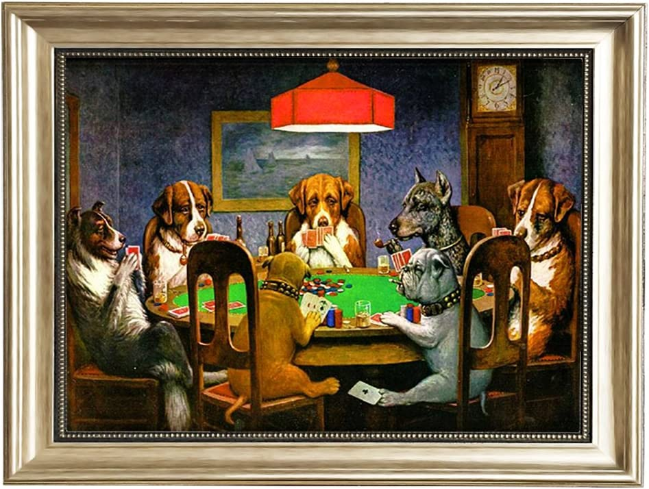 Eliteart-Dogs Playing Poker by Cassius Max 67% OFF Minneapolis Mall Pa Oil Marcellus Coolidge