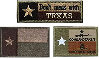 Homiego Texas State Flag Military Tactical Morale Desert Badge Hook & Loop Embroidery Patch for Hat Backpack Jacket (Texas State Flag - A)