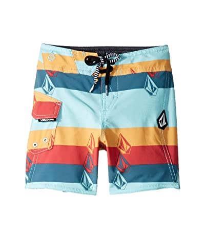 Volcom Kids Lido Liney Mod Boardshorts (Toddler/Little Kids) (Seaglass) Boy