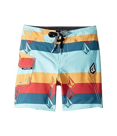 Volcom Kids Lido Liney Mod Boardshorts (Toddler/Little Kids) (Seaglass) Boy