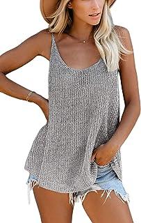 Ancapelion Dames zomer blouse mouwloos tank top shirt elegant vest hemdblouse losse fit T-shirt