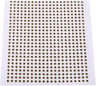 Wbestexercises 500pcs 3/4/5mm Holographic Fishing Lure, 3D Fish Eyes Fly Tying Crafts Jig for DIY Lure Baits Making