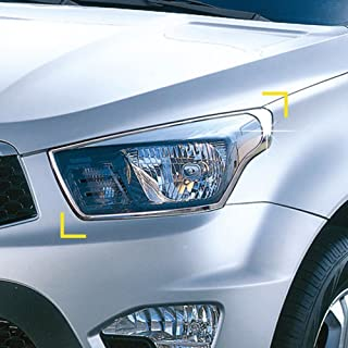 K-964 Chrome Silver Exterior Front Head Lamp Light Cover Molding Guard Trim for Ssangyong Actyon Sports / Korando Sports 2013+