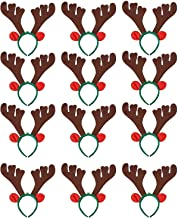 Reindeer Antler Headbands - 12-Pack Costume Party Accessories, Holiday Festive Photobooth Props and Decoration, For Easter, Halloween, Christmas, Fits Most Kids