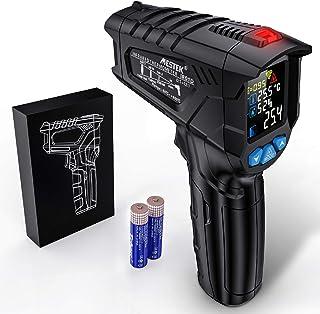 Thermomètre infrarouge Temperature Laser MESTEK Sans Contact Pistolet Temperature LCD -58°F~1472°F(-50°C~800°C) Réglable A...