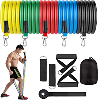 Zentouch Resistance Bands Set,Portable Workout Bands with 5 Resistance Loop Bands,Door Anchor,Handles,Ankle Straps,Carry B...