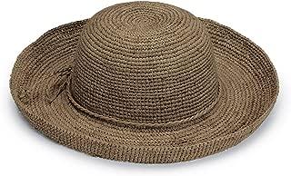 Women's Catalina Sun Hat – Modern Handwoven, Twisted Natural Raffia, Wide Brim, Designed in Australia