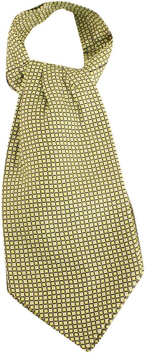 Knightsbridge Neckwear Mens Squares Silk Cravat - Lime Green