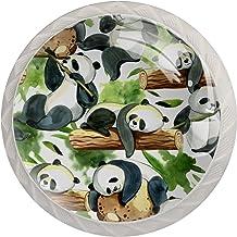 Groen Zwart Wit Panda Wit 4 Lade Handvatten Pull Handvatten Kabinet knoppen en Schroef Meubelgrepen