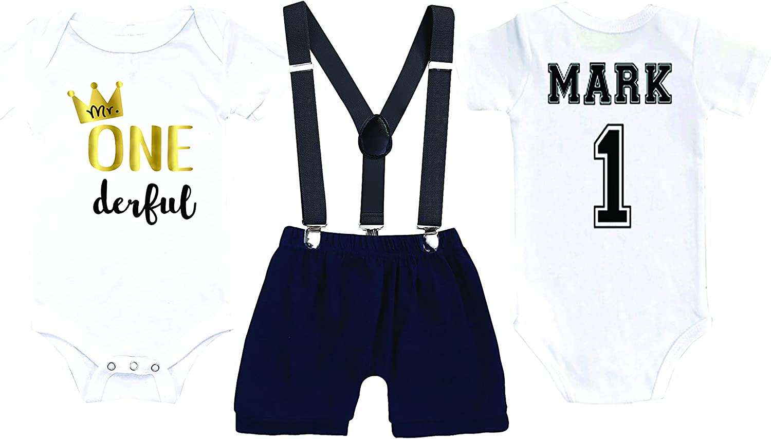 Mr. Onederful Birthday Bodysuit First Ranking Department store TOP12 Bo Personalized