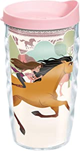 Tervis Made in USA Double Walled Universal DreamWorks Spirit Untamed Insulated Tumbler Cup Keeps Drinks Cold & Hot, 10oz Wavy, Clear