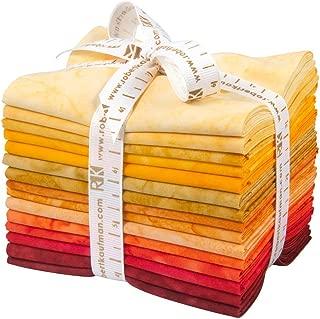 Lunn Studios PRISMA DYES LAVA FLOW BATIKS Fat Quarter Bundle 15 Precut Cotton Fabric Quilting FQs Assortment Robert Kaufman FQ-831-15