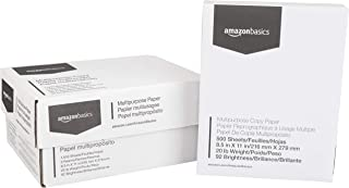 AmazonBasics Multipurpose Copy Printer Paper - White, 8.5 x 11 Inches, 3 Ream Case (1,500 Sheets)