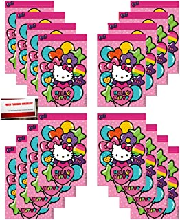 16 Pack Hello Kitty Party Plastic Loot Treat Candy Favor Bags (Plus Party Planning Checklist by Mikes Super Store)