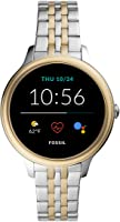 Fossil Women's Gen 5E 42mm Stainless Steel Touchscreen Smartwatch with Speaker, Heart Rate, Contactless Payments and...