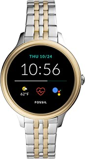 Women's Gen 5E 42mm Stainless Steel Touchscreen Smartwatch with Speaker, Heart Rate, Contactless...