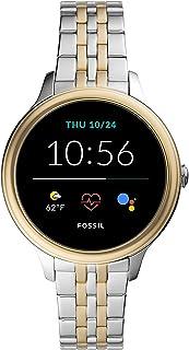 Fossil Gen 5E - Reloj inteligente con pantalla táctil de 1.654 in de acero inoxidable con altavoz, frecuencia cardíaca, pagos sin contacto y notificaciones de smartphones