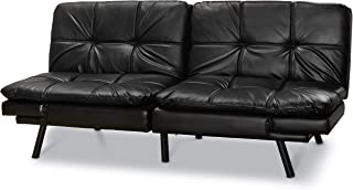 Mainstay Memory Foam Futon Sofa (Black, 1)