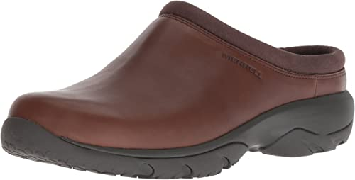 Merrell Men's Encore REXTON Leather AC+ Clog, Dark Earth, 9 M US