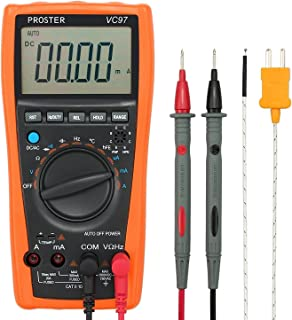 Proster Digital Multimeter 3999 LCD Auto Ranging Multi Meter with Capacitance Resistance..