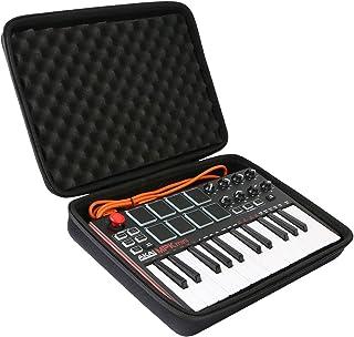 co2CREA Podróżna twarda obudowa do AKAI Professional MPK Mini MK3 – 25 klawiszy USB MIDI kontroler klawiatury (tylko czarn...