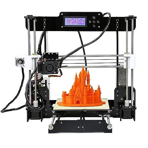 anet a8 high precision desktop 3d printer kits reprap i3 diy self assembly  with 8gb sd