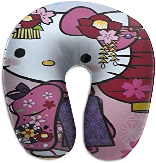 WEIBING Hello Kitty in A Kimono U-Shaped Travel Pillow Good Support for Neck and Back – Perfect for Trips,Office and School Napping