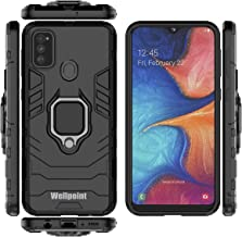 Designed for|Samsung*Galaxy*m30s*black*mobiles*phones*cover*covers*rugged*case*protector*ultra*slim*rubber*armor*ring*ka*backcase* hammer*bumper*stand*army*backcover*silicon*skin*tpu*pouch* protection**shockproof*(G-Black)