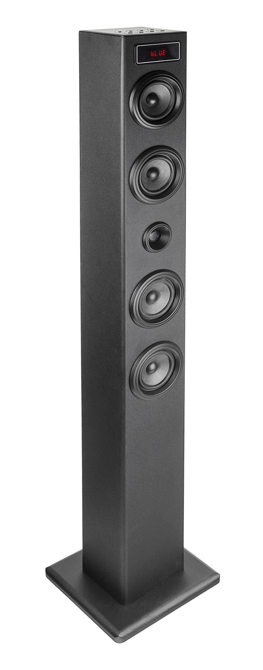 Elbe TW403BT - Torre de Sonido (Sistema), multifunción con Bluetooth, Pantalla LED Frontal, 40 W, USB/MicroSD / MP3, Radio FM, Apagado automático, Color Negro: Amazon.es: Electrónica