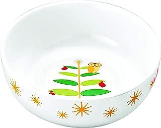 Rachael Ray 58342 Dinnerware Holiday Hoot Serving Bowl - Print, 10 Inch, Green