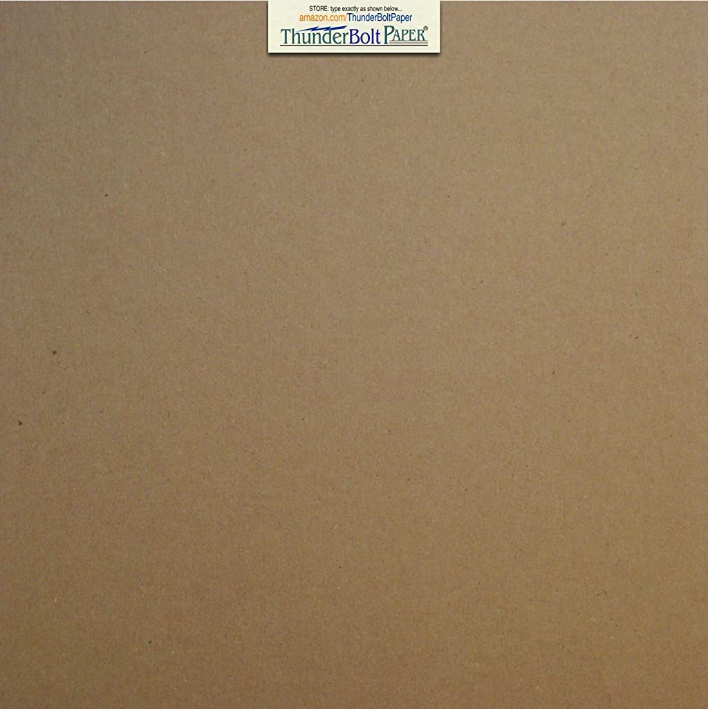 50 Sheets Chipboard 24pt (point) 12 X 12 Inches Light Weight Scrapbook Album|Cover Size .024 Caliper Thickness Cardboard Craft Packaging Brown Kraft Paper Board