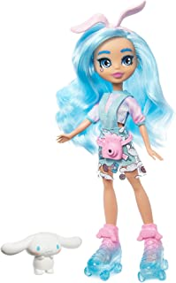 Mattel Sanrio Cinnamoroll & Cloudine Doll (~10-in / 25.4-cm) Wearing Fashions and Accessories, Long Blue Hair and Trendy Outfit, Great Gift for Kids Ages 3Y+