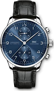 IWC Portugieser Chronograph Mens Watch Blue Dial IW371606 in House Movement