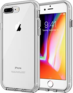 JETech Case for Apple iPhone 8 Plus and iPhone 7 Plus 5.5-Inch, Shock-Absorption Bumper Cover, Anti-Scratch Clear Back, Grey