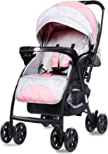 R for Rabbit Sugar Pop Stroller and Pram with Auto Fold for Newborn Baby | Kids of 0 to 3 Years (Pink Grey)