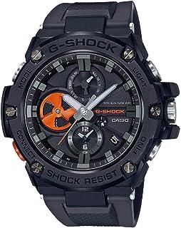 G-SHOCK カシオ ジーショック スマートウォッチ G-STEEL ジースチール メタル GST-B100B-1A4 Bluetooth ブルートゥース ソーラー ブラック 黒 オレンジ アナログ クロノグラフ スマホリンク 同型:GST-...