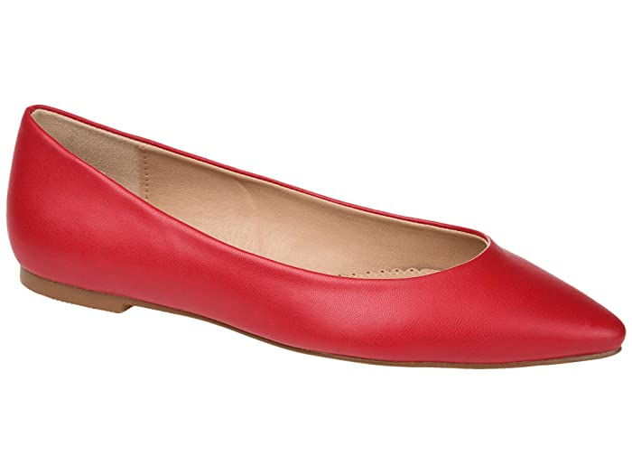 Retro Vintage Flats and Low Heel Shoes Journee Collection Moana Flat Red Womens Shoes $19.99 AT vintagedancer.com