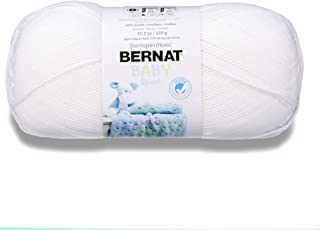 Bernat 16312121005 Big Ball Baby Solid Yarn - (3) Light Gauge 100% Acrylic - 12.3 oz - White - Machine Wash & Dry