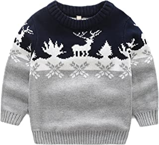 LittleSpring Little Boys Christmas Knit Pullover Sweater 2-7 Years