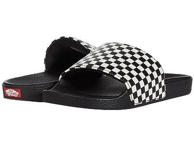 Vans Kids Slide-On (Big Kid) ((Checkerboard) White) Kid