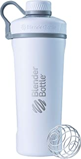 BlenderBottle Radian Insulated Stainless Steel Shaker Bottle, Matte White, 26-Ounce - C02091