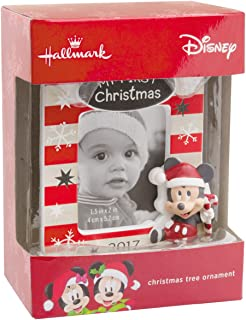 Hallmark Disney Mickey Mouse Baby's First Christmas 2017 Picture Frame Christmas Ornament
