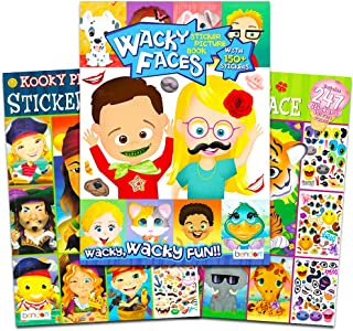 Make a Face Sticker Books for Kids Toddlers -- Set of 3 Jumbo Books with Over 90 Faces and 750 Stickers (Sticker Face Activity Set)