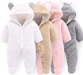 Haokaini Nouveau-né bébé Oreille Capuche tricoté Barboteuse Combinaison Salopette Combinaison pour garçons Filles